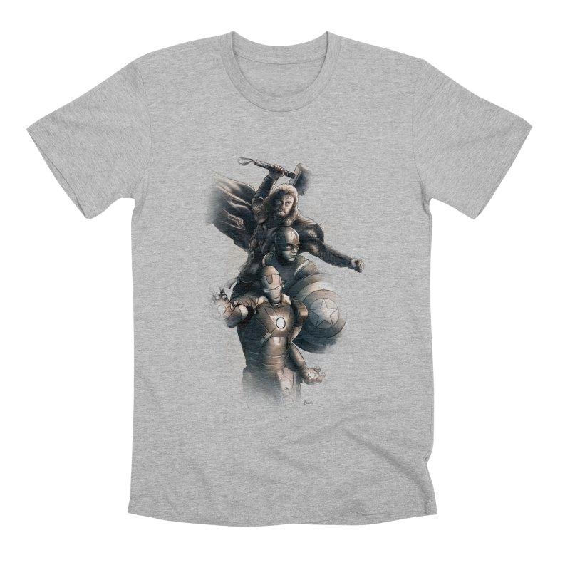 Avengers - First Assemble Men's Premium T-Shirt by Laurie's Artist Shop