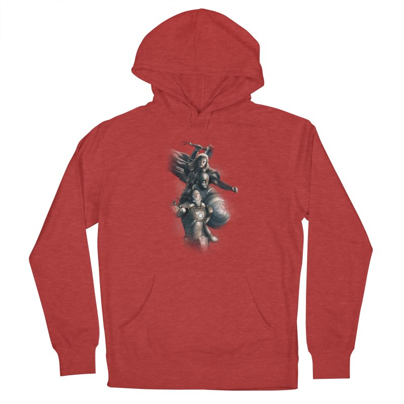 Avengers - First Assemble Men's French Terry Pullover Hoody by Laurie's Artist Shop