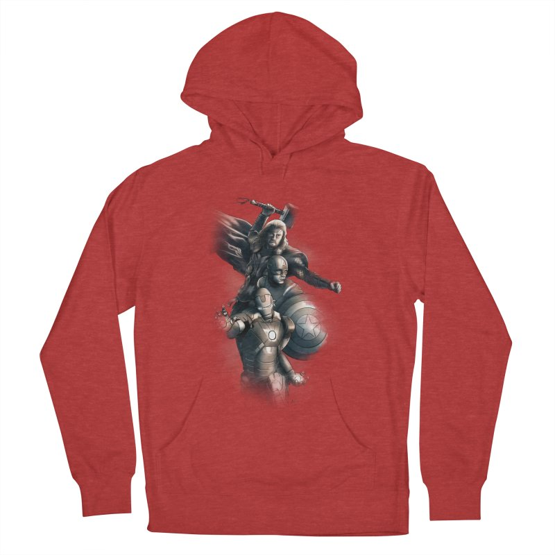 Avengers - First Assemble Women's French Terry Pullover Hoody by Laurie's Artist Shop