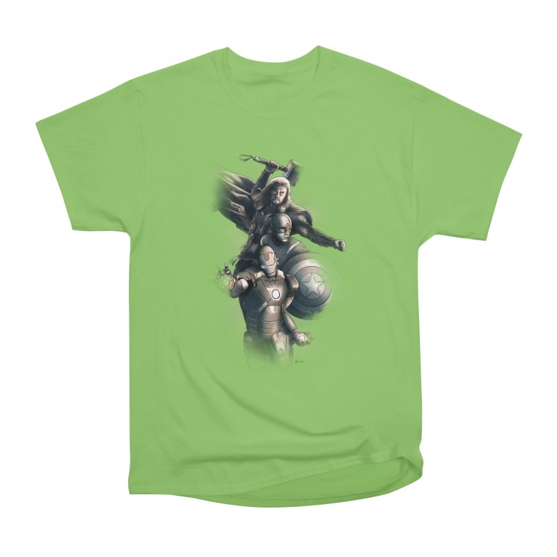 Avengers - First Assemble Women's Heavyweight Unisex T-Shirt by Laurie's Artist Shop