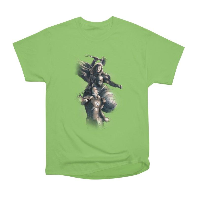 Avengers - First Assemble Men's Heavyweight T-Shirt by Laurie's Artist Shop