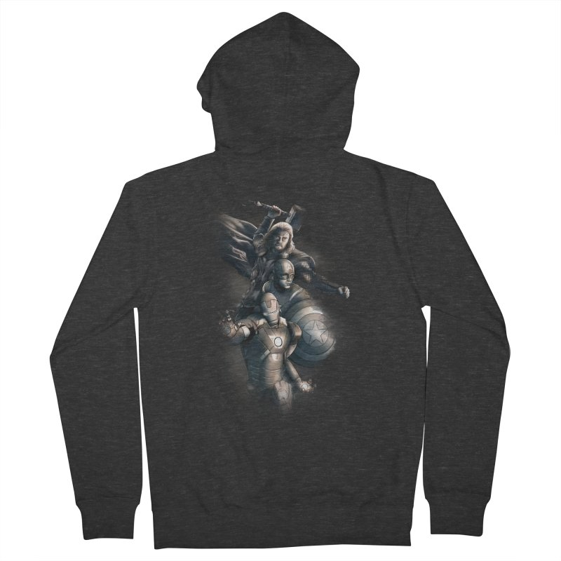 Avengers - First Assemble Men's French Terry Zip-Up Hoody by Laurie's Artist Shop