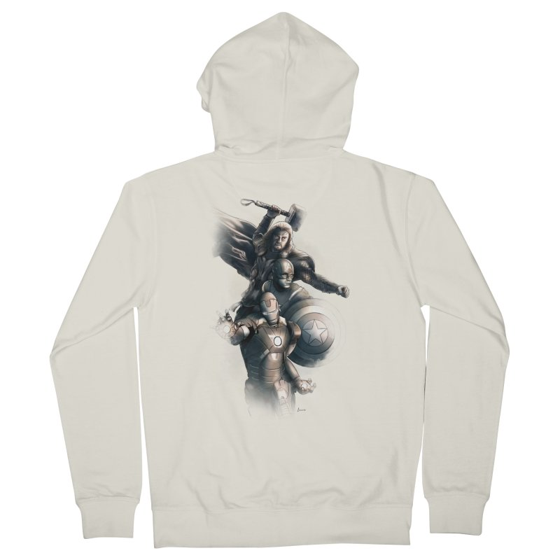 First Assemble Men's Zip-Up Hoody by Laurie's Artist Shop