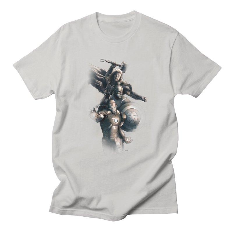 Avengers - First Assemble Women's Regular Unisex T-Shirt by Laurie's Artist Shop