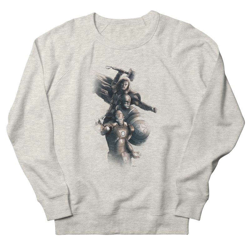 Avengers - First Assemble Men's French Terry Sweatshirt by Laurie's Artist Shop