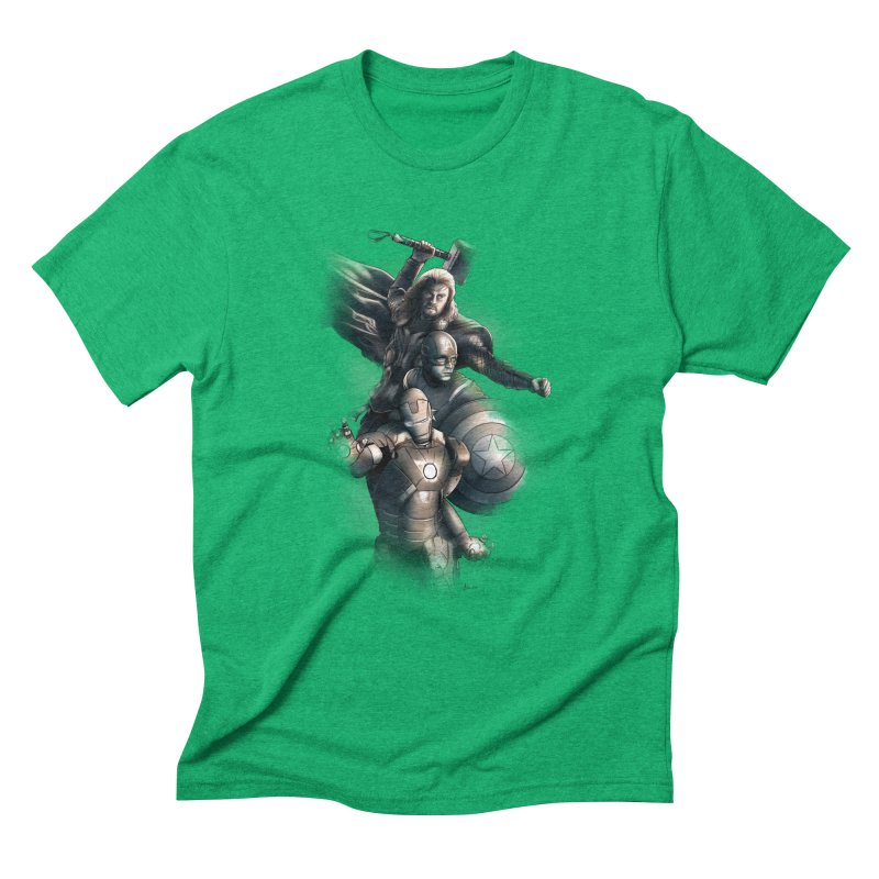 Avengers - First Assemble Men's Triblend T-Shirt by Laurie's Artist Shop