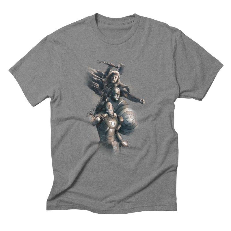 Avengers - First Assemble Men's Triblend T-Shirt by Laurie's Artist Shop