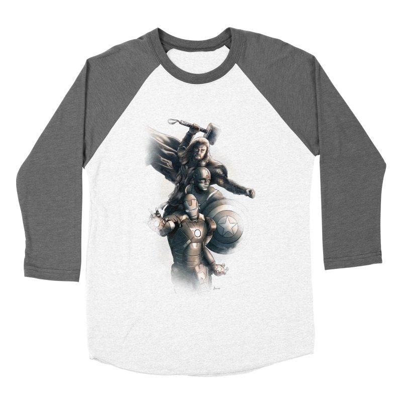 First Assemble Women's Baseball Triblend T-Shirt by Laurie's Artist Shop