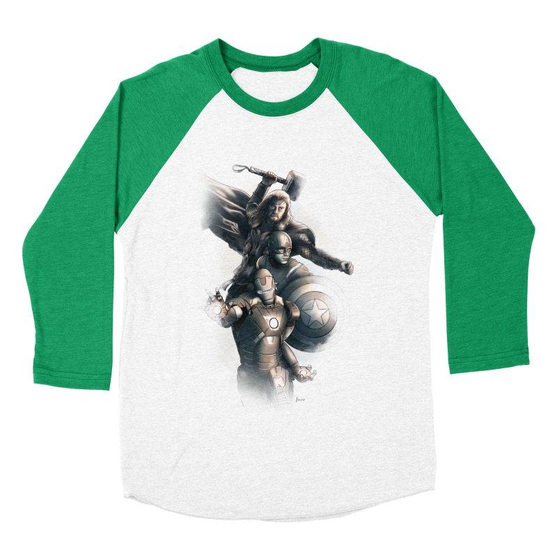 Avengers - First Assemble Women's Baseball Triblend T-Shirt by Laurie's Artist Shop