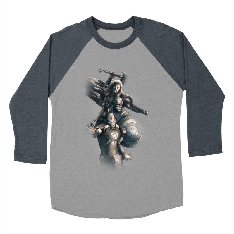 Avengers - First Assemble Women's Baseball Triblend T-Shirt by Laurie's Artist Shop