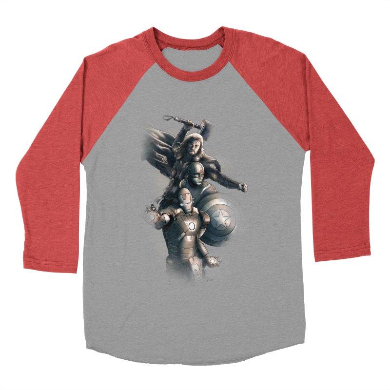 Avengers - First Assemble Men's Baseball Triblend Longsleeve T-Shirt by Laurie's Artist Shop