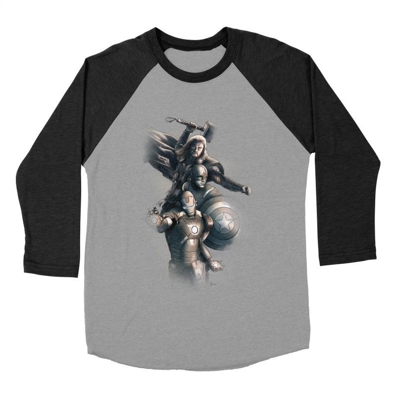 Avengers - First Assemble Men's Baseball Triblend T-Shirt by Laurie's Artist Shop