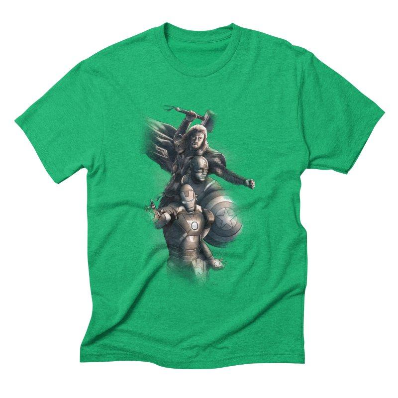 First Assemble Men's Triblend T-shirt by Laurie's Artist Shop