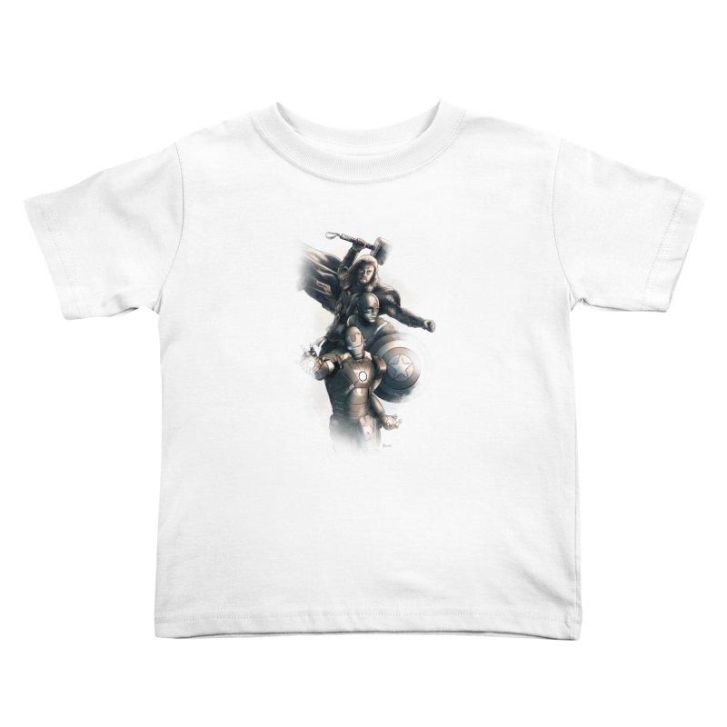 Avengers - First Assemble Kids Toddler T-Shirt by Laurie's Artist Shop
