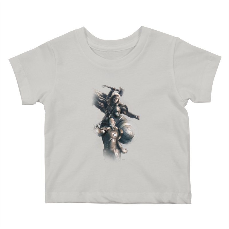 First Assemble Kids Baby T-Shirt by Laurie's Artist Shop