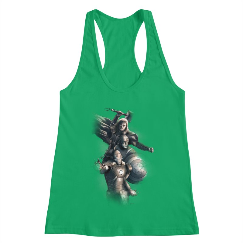 Avengers - First Assemble Women's Racerback Tank by Laurie's Artist Shop