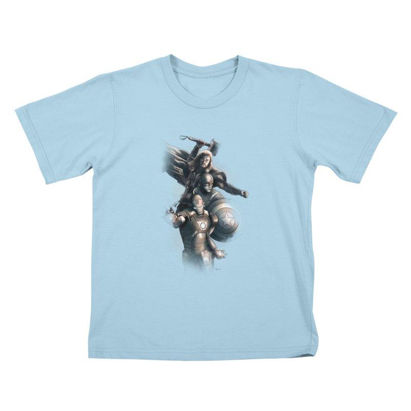 First Assemble Kids T-shirt by Laurie's Artist Shop