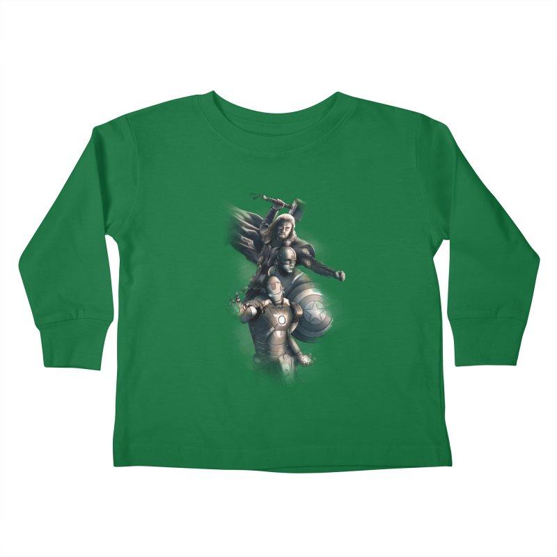 Avengers - First Assemble Kids Toddler Longsleeve T-Shirt by Laurie's Artist Shop