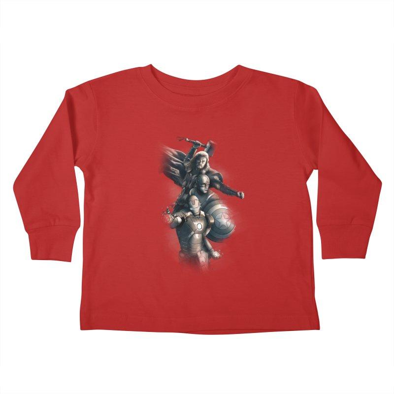 First Assemble Kids Toddler Longsleeve T-Shirt by Laurie's Artist Shop