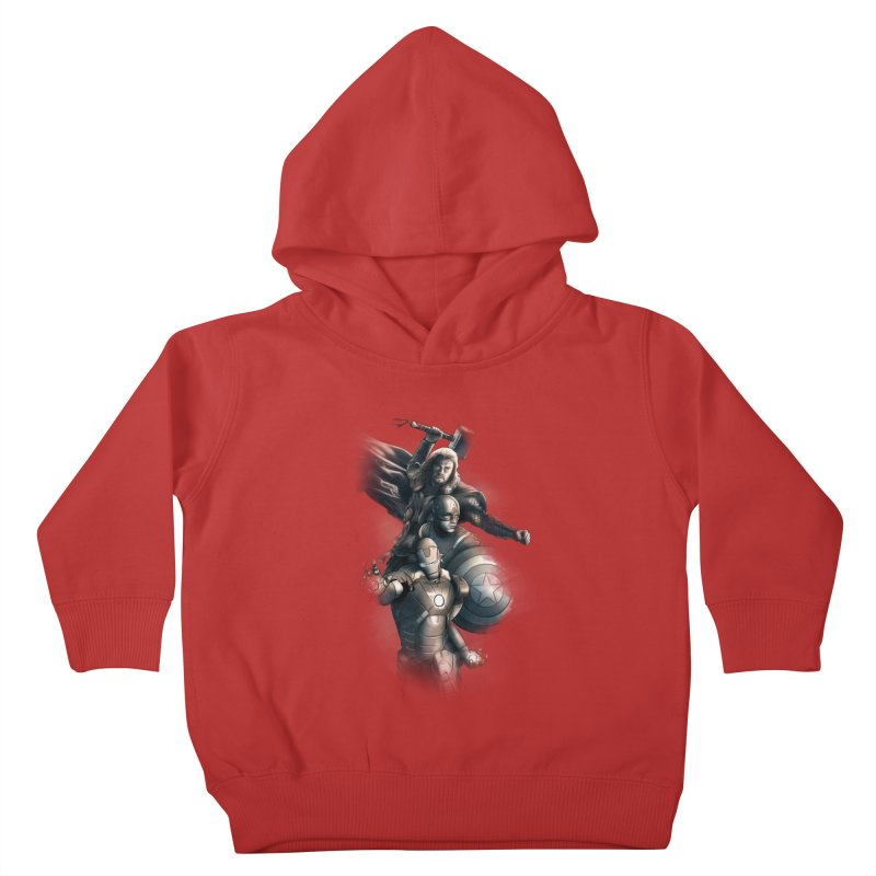 Avengers - First Assemble Kids Toddler Pullover Hoody by Laurie's Artist Shop