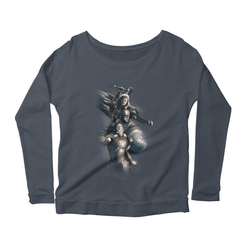 Avengers - First Assemble Women's Scoop Neck Longsleeve T-Shirt by Laurie's Artist Shop