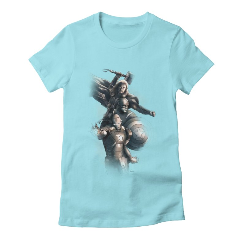Avengers - First Assemble Women's Fitted T-Shirt by Laurie's Artist Shop