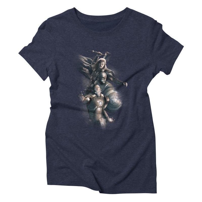 Avengers - First Assemble Women's Triblend T-Shirt by Laurie's Artist Shop
