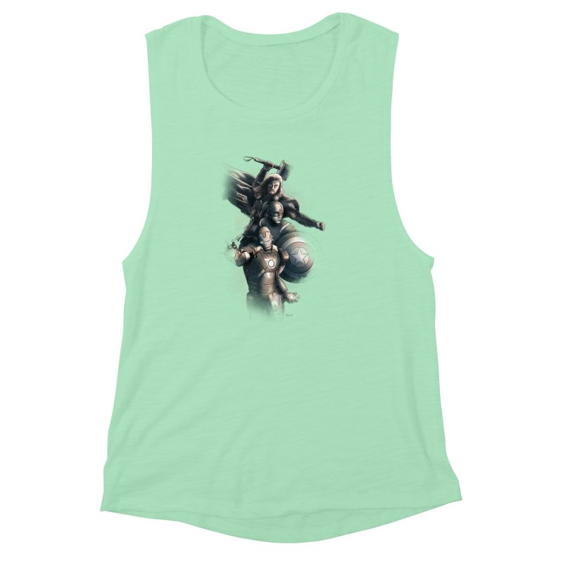 First Assemble Women's Muscle Tank by Laurie's Artist Shop