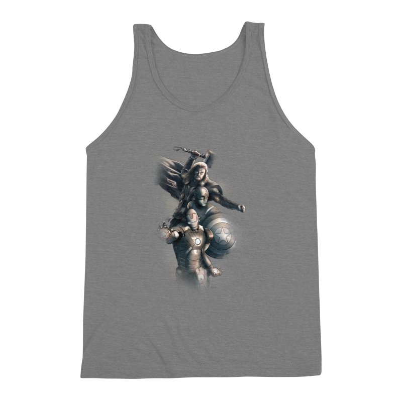 First Assemble Men's Triblend Tank by Laurie's Artist Shop