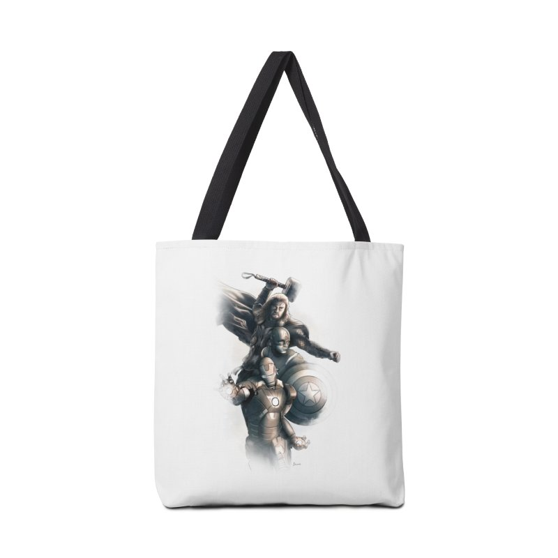 Avengers - First Assemble Accessories Tote Bag Bag by Laurie's Artist Shop