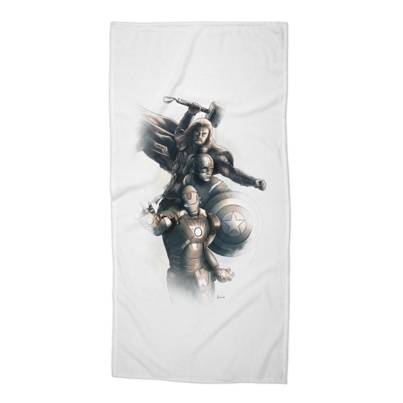 Avengers - First Assemble Accessories Beach Towel by Laurie's Artist Shop
