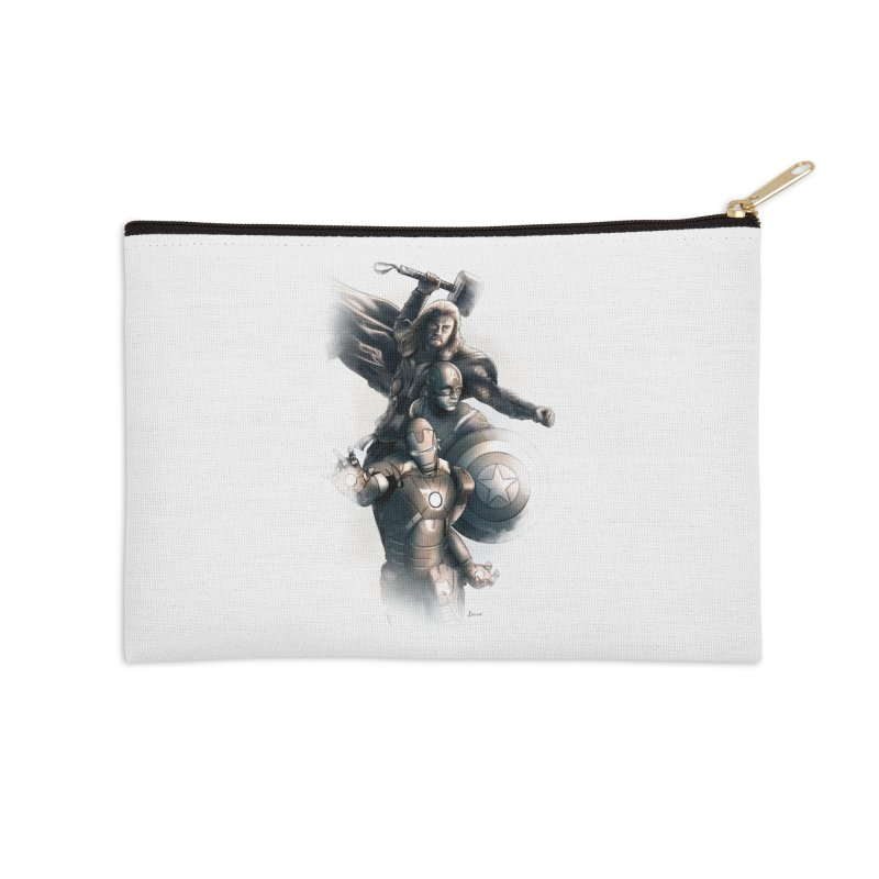Avengers - First Assemble Accessories Zip Pouch by Laurie's Artist Shop