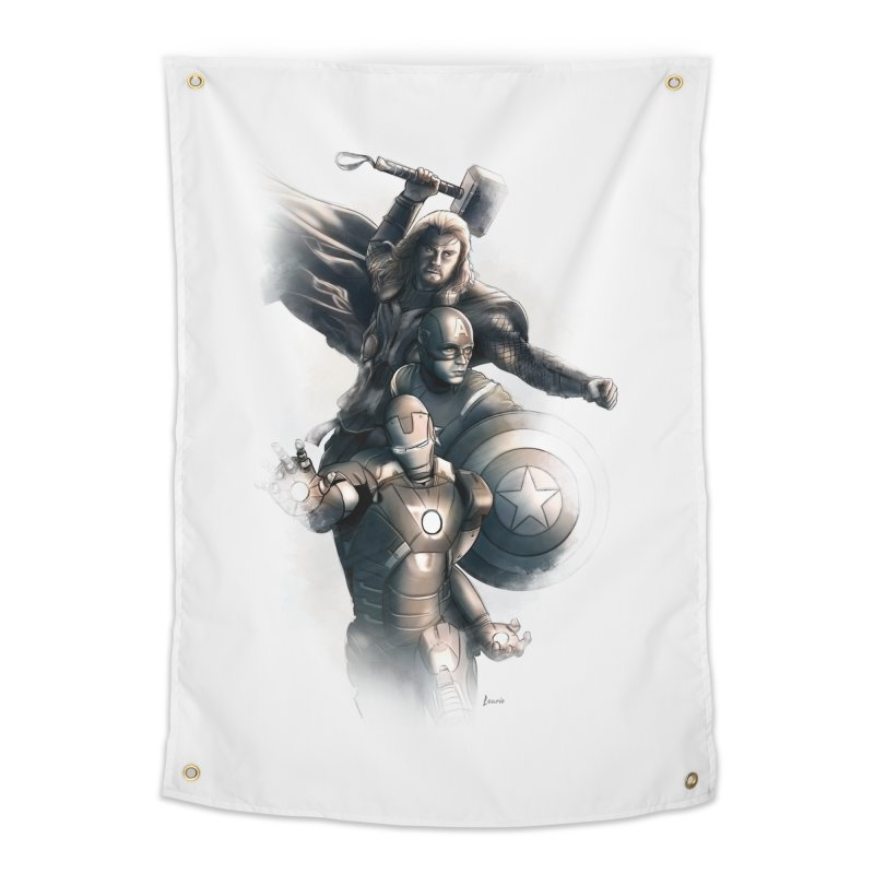 Avengers - First Assemble Home Tapestry by Laurie's Artist Shop