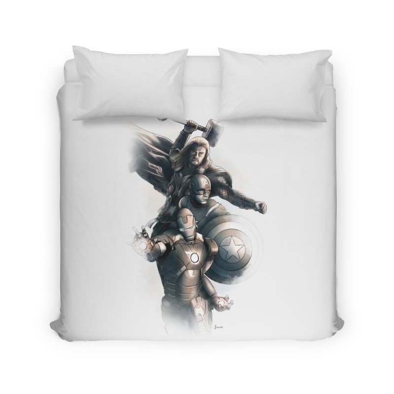 Avengers - First Assemble Home Duvet by Laurie's Artist Shop