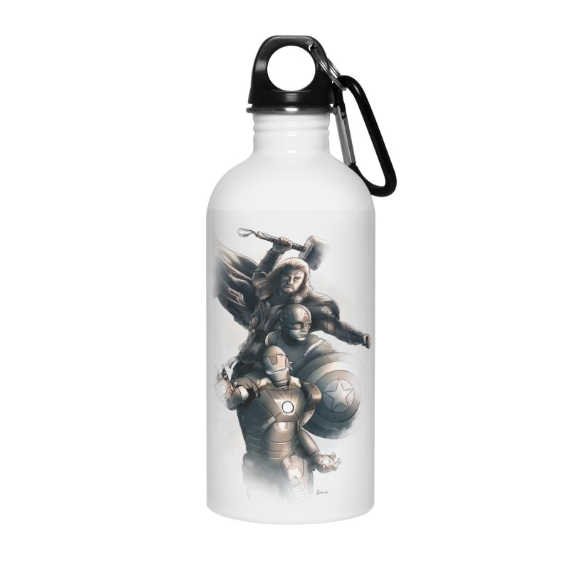 Avengers - First Assemble Accessories Water Bottle by Laurie's Artist Shop