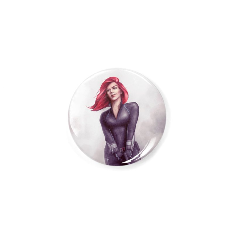 Black Widow - Let the flames begin Accessories Button by Laurie's Artist Shop