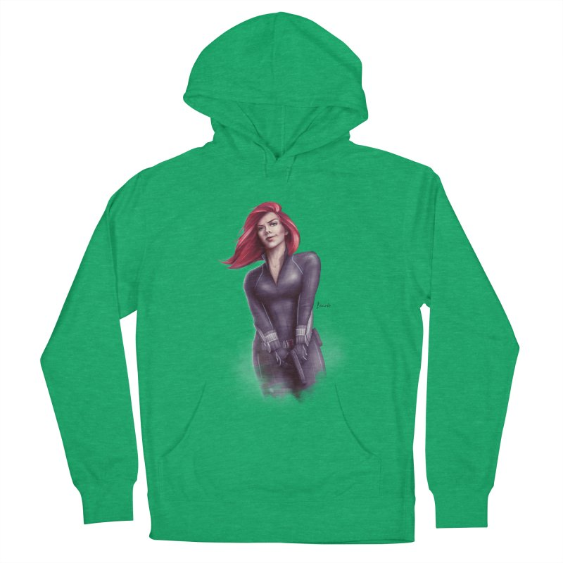 Black Widow - Let the flames begin Men's French Terry Pullover Hoody by Laurie's Artist Shop