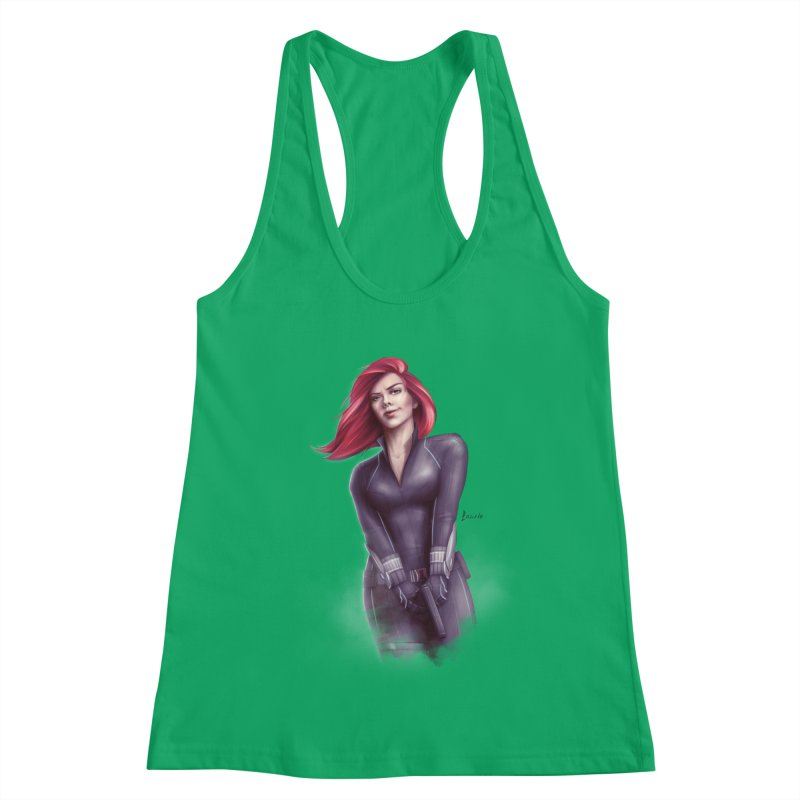 Black Widow - Let the flames begin Women's Tank by Laurie's Artist Shop