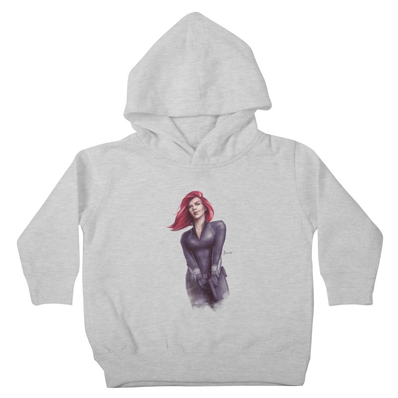 Black Widow - Let the flames begin Kids Toddler Pullover Hoody by Laurie's Artist Shop