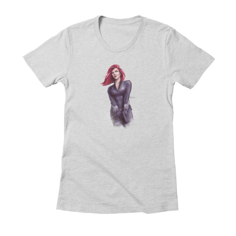 Black Widow - Let the flames begin Women's T-Shirt by Laurie's Artist Shop