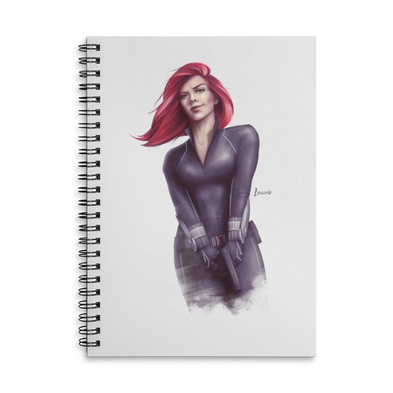 Black Widow - Let the flames begin Accessories Notebook by Laurie's Artist Shop
