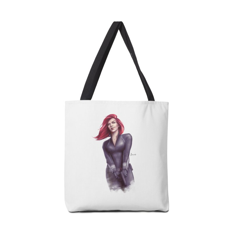 Black Widow - Let the flames begin Accessories Tote Bag Bag by Laurie's Artist Shop
