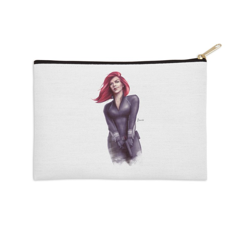 Black Widow - Let the flames begin Accessories Zip Pouch by Laurie's Artist Shop
