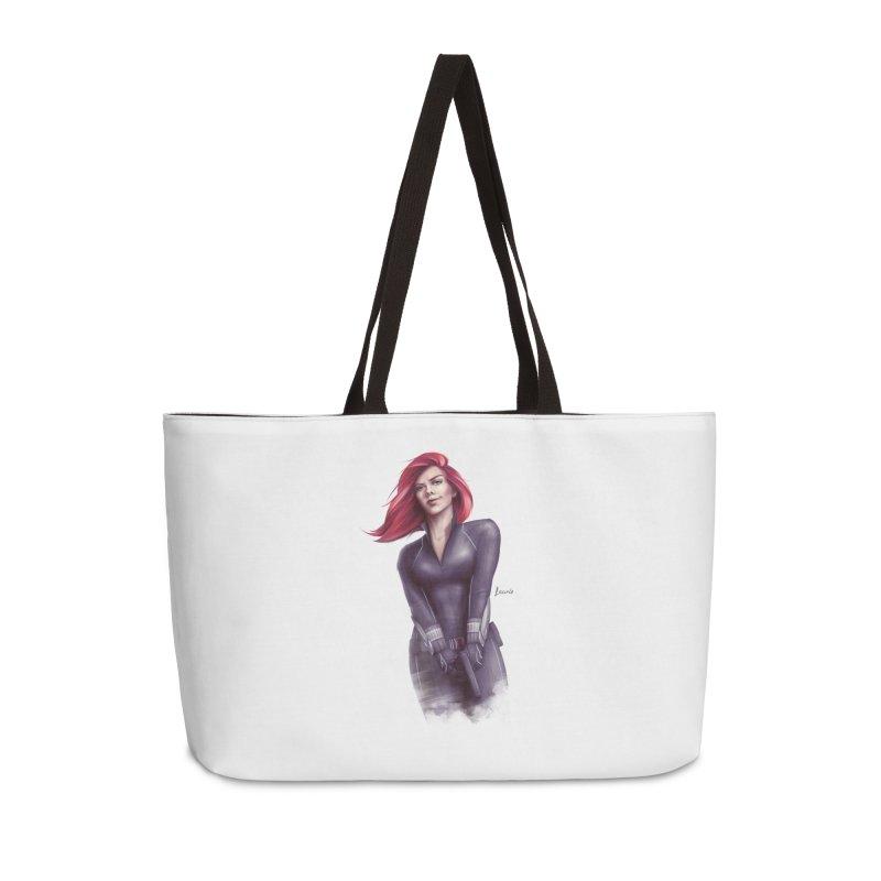Black Widow - Let the flames begin Accessories Weekender Bag Bag by Laurie's Artist Shop