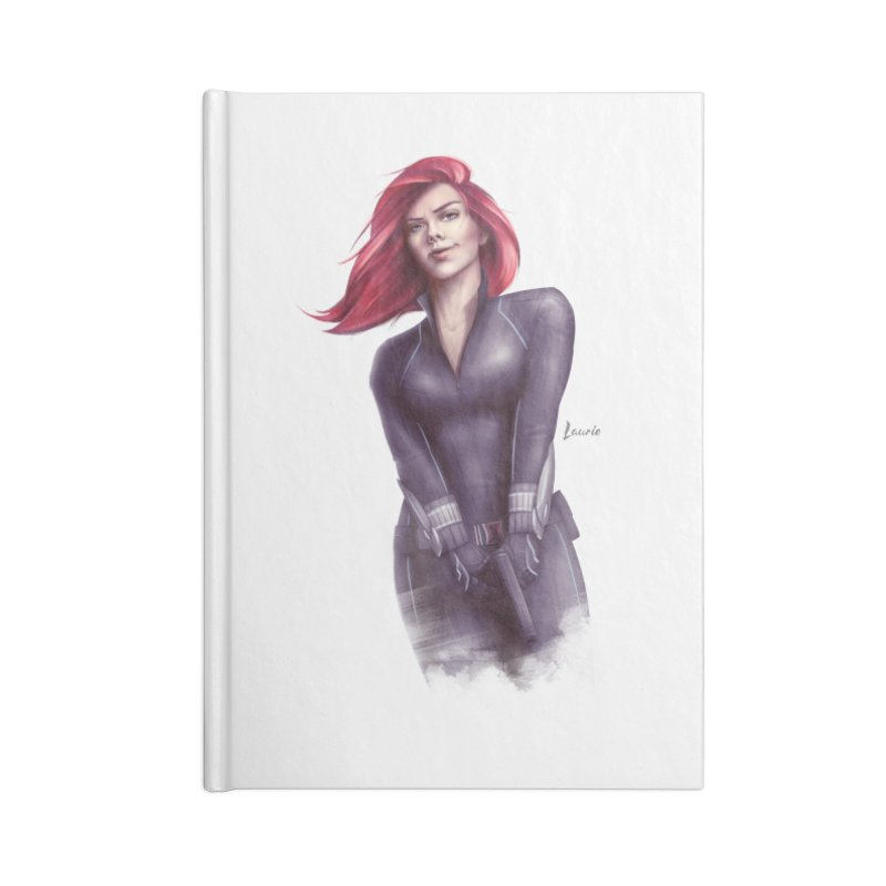Black Widow - Let the flames begin Accessories Lined Journal Notebook by Laurie's Artist Shop