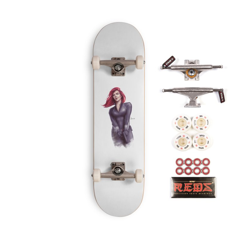 Black Widow - Let the flames begin Accessories Complete - Pro Skateboard by Laurie's Artist Shop