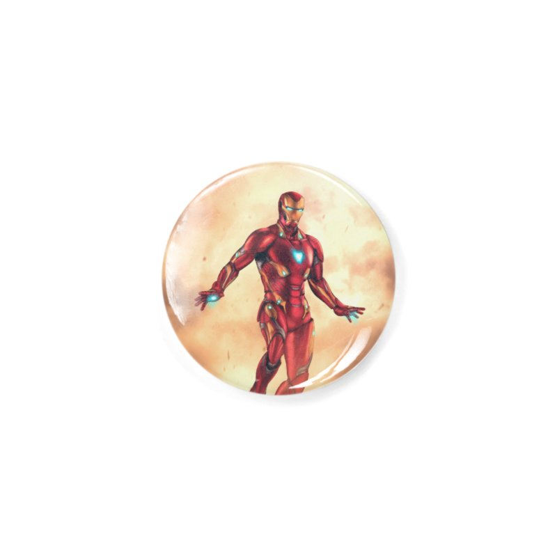 Bleeding Edge Iron Man Accessories Button by Laurie's Artist Shop