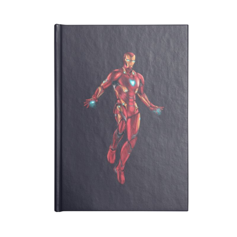 Bleeding Edge Iron Man Accessories Lined Journal Notebook by Laurie's Artist Shop