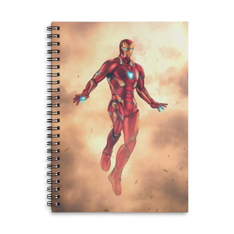 Bleeding Edge Iron Man Accessories Lined Spiral Notebook by Laurie's Artist Shop