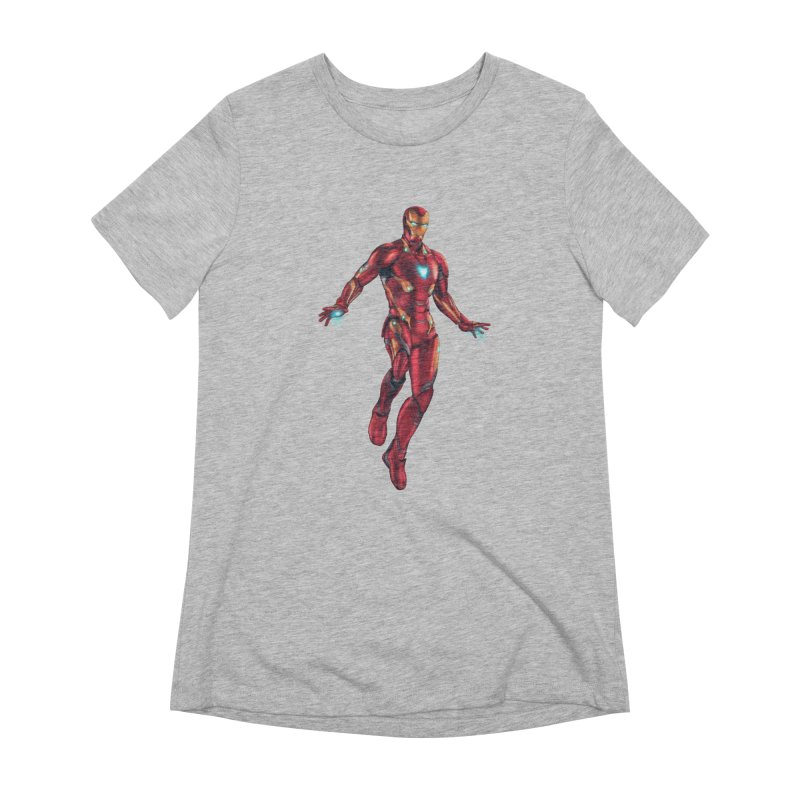 Bleeding Edge Iron Man Women's Extra Soft T-Shirt by Laurie's Artist Shop